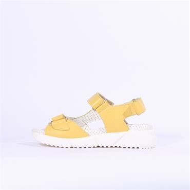 Jose Saenz Leather Velcro Sandal Laura - Yellow